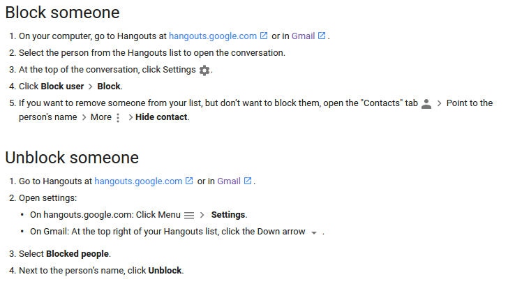 How to block user on hangout | How to do it?